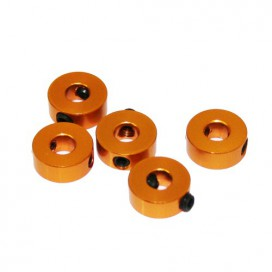 4mm ALUMINIUM STOPPER GOLD(5u.)