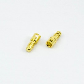 3.5mm BULLET CONNECTOR MALE (2pcs)