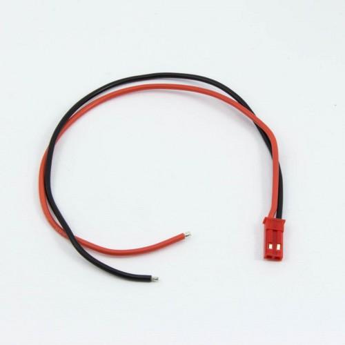 CONECTOR BEC MACHO CON CABLE (20cm)