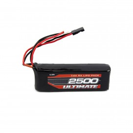ULTIMATE 7.4v. 2500mAh LiPo FLAT RECEIVER BATTERY PACK JR