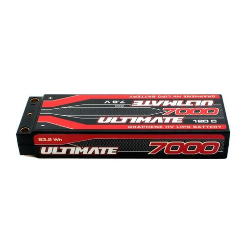 BATERÍA ULTIMATE GRAFENO HV LiPo STICK 7.6v. 7000mAh 120C CONEXION 5mm