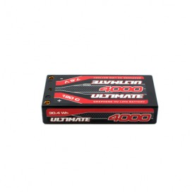 ULTIMATE GRAPHENE HV LiPo SHORTY LCG 4000mAh 7.6V 120C 5mm TUBES