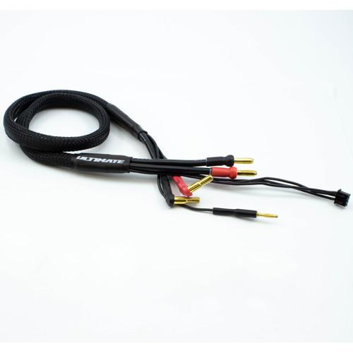 CABLE CARGA 2S DE 600mm CON CONECTORES 4/5mm