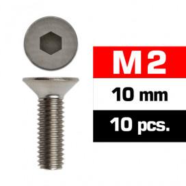 M2x10mm FLAT HEAD SCREWS (10 pcs)