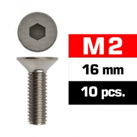 M2x16mm FLAT HEAD SCREWS (10 pcs)