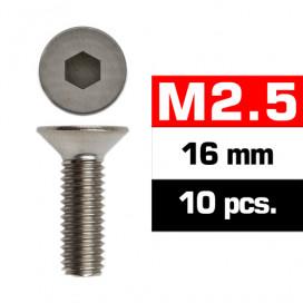 M2,5x16mm FLAT HEAD SCREWS (10 pcs)