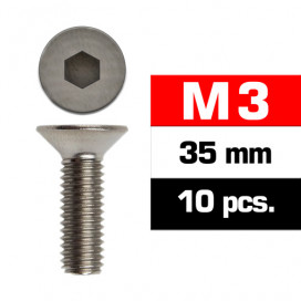 M3x35mm FLAT HEAD SCREWS (10 pcs)
