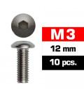 TORNILLOS M3x12mm BOTON (10u.)