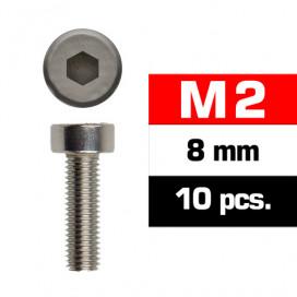 M2x8mm CAP HEAD SCREWS (10 pcs)