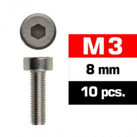 M3x8mm CAP HEAD SCREWS (10 pcs)
