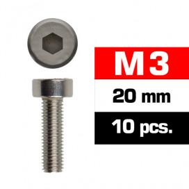 M3x20mm CAP HEAD SCREWS (10 pcs)