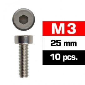 M3x25mm CAP HEAD SCREWS (10 pcs)