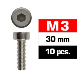 M3x30mm CAP HEAD SCREWS (10 pcs)