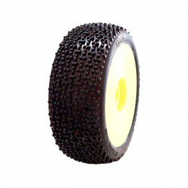 KILLER 1/8OFF-ROADCOMPETITION HYPER SOFT PRE-MOUNTED ON YELLOW WHEEL (2pcs)