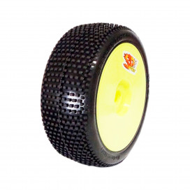 RICKY 1/8OFF-ROADCOMPETITION HYPER SOFT PRE-MOUNTED ON YELLOW WHEEL (2pcs)
