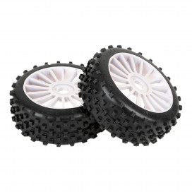 "1/8 OFF-ROAD ""SPORT SERIES"" STAR PIN     ""SPORT SERIES""   83MM WHITE DISH RIMS"