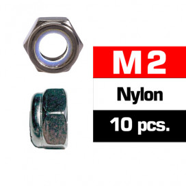M2 NYLON LOCKNUTS (10 pcs)