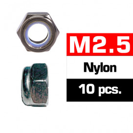 M2,5 NYLON LOCKNUTS (10 pcs)