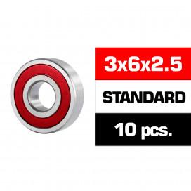 "3x6x2.5mm KIT RODAMIENTOS ""HS"" TAPAS GOMA (10u.)"