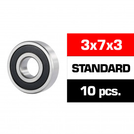 "3x7x3mm ""HS"" RUBBER SEALED BEARING SET (10pcs)"