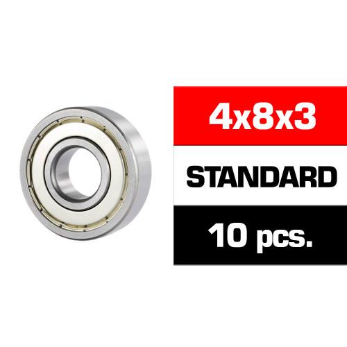 "4x8x3mm ""HS"" METAL SHIELDED BEARING SET (10pcs)"