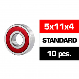 "5x11x4mm ""HS"" RUBBER SEALED BEARING SET (10pcs)"