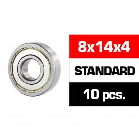 "8x14x4mm ""HS"" METAL SHIELDED BEARING SET (10pcs)"