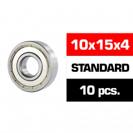 "10x15x4mm ""HS"" METAL SHIELDED BEARING SET (10pcs)"