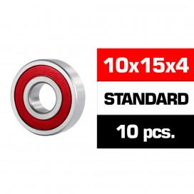 "10x15x4mm ""HS"" RUBBER SEALED BEARING SET (10pcs)"