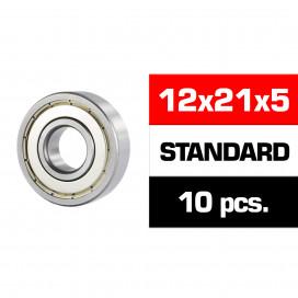 "12x21x5mm ""HS"" METAL SHIELDED BEARING SET (10pcs)"