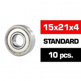"15x21x4mm ""HS"" METAL SHIELDED BEARING SET (10pcs)"