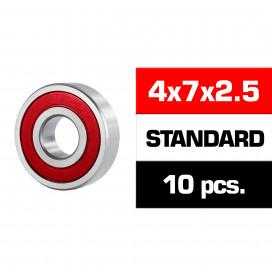 "4x7x2.5mm ""HS"" RUBBER SEALED BEARING SET (10pcs)"