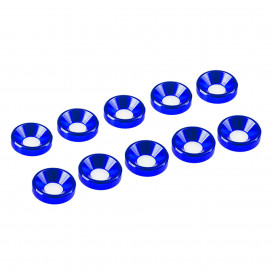 3 mm. ALU. WASHER BLUE (10 pcs)