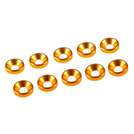3 mm ALU.WASHER GOLD (10pcs.)