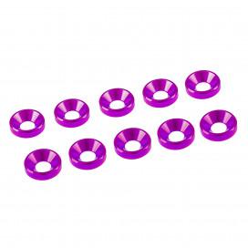 3 mm. ALU. WASHER PINK (10 pcs)
