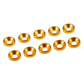 4 mm. ALU. WASHER GOLD (10 pcs)