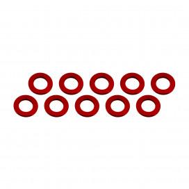 ALUMINUM SHIM (3x6x0.5mm) RED (10pcs)
