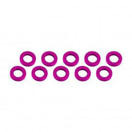 ALUMINUM SHIM (3x6x1mm) PINK (10pcs)