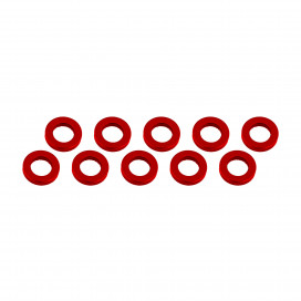 ALUMINUM SHIM (3x6x1mm) RED (10pcs)