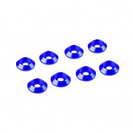 3MM ALUMINIUM CAP HEAD WASHER BLUE (8 pcs)