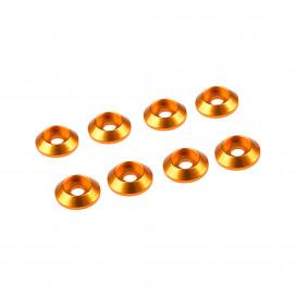 3MM ALUMINIUM CAP HEAD WASHER GOLD (8 pcs)