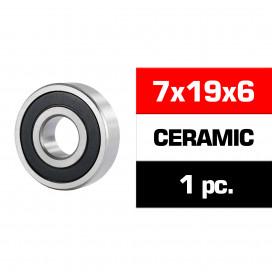 "7x19x6mm CERAMIC ""HS"" RUBBER SEALED FRONT ENGINE BEARING (UR, NOVA) (1pc)"