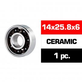"""14x25.8x6mm CERAMIC """"HS"""" REAR ENGINE BEARING (UR, NOVA) (1pc)"""