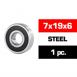 "7x19x6mm STEEL ""HS"" RUBBER SEALED FRONT ENGINE BEARING (UR, NOVA,OS) (1pc)"