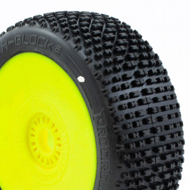 H-BLOCK v2 BUGGY C1 (SUPER SOFT) PRE-MOUNTED YELLOW (2pcs.)