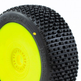H-BLOCK v2 BUGGY C2 (SOFT) PRE-MOUNTED YELLOW (2pcs.)