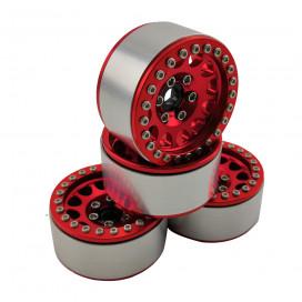 """1.9"""" ALUMINUM BEADLOCK CRAWLER WHEELS M105 RED (4pcs)"""