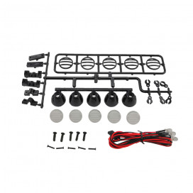 5-LED ROOF SPOTLIGHT KIT BLACK