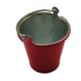 1/10 SCALE CRAWLER METAL BUCKET RED (1pc)