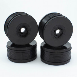 PROCIRCUIT VORTEX WHEELS V2 BLACK (4pcs)